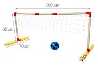 Водный волейбол с мячом и воротами в коробке