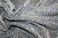 Ткань трикотаж мягкая не плотная резинка , рябушка зеленый оттенок, пог. м.№210, фото 1
