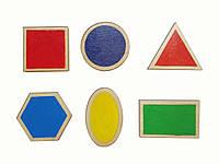 Набір дидактичного матеріалу HEGA Основні геометричні фігури з посібником, фото 1