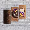 """Модульна картина """"Дві фіолетові метелики"""", фото 2"""