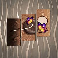 """Модульная картина """"Две фиолетовые бабочки"""""""