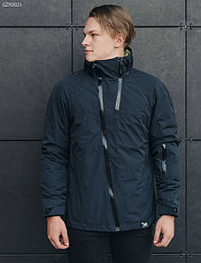 Весенне-осенняя мужская куртка стафф/ Чоловіча синя куртка Staff HH navy GZR0023