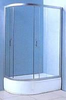 """VICTORIA-SATIN душевая кабина с глубоким поддоном 1200*800*2030 правая, стекло (4мм) """"FABRIC"""" (в комп. с глуб, поддоном)"""