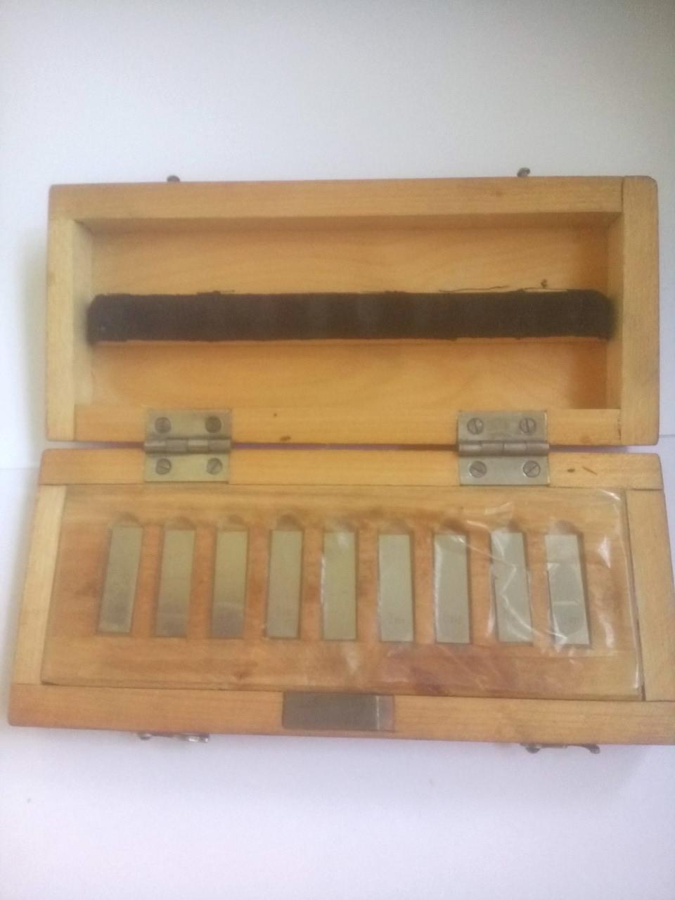 Меры длинны  концевые , набор из стали твердого сплава 0,991-0,999, возможна калибровка в Укрцсм
