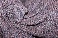 Ткань трикотаж мягкая не плотная резинка , цвет фиолет, пог. м.№214, фото 1