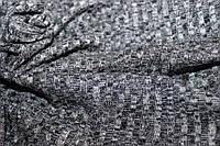 Ткань трикотаж мягкая не плотная резинка , цвет серая темн., пог. м.№215, фото 1