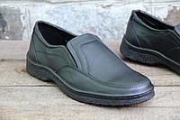 Туфли мужские из натуральной кожи на резинке J 183
