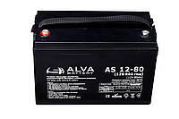 Аккумуляторная батарея гелевая ALVA battery AS12-80, фото 1
