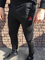 Мужские спортивные штаны - В стиле Reebok (Чёрные), фото 1