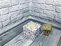 *10 шт* / Коробка для 1-ого кекса / 100х100х90 мм / печать-Магнолия / окно-обычн / лк / цв, фото 1