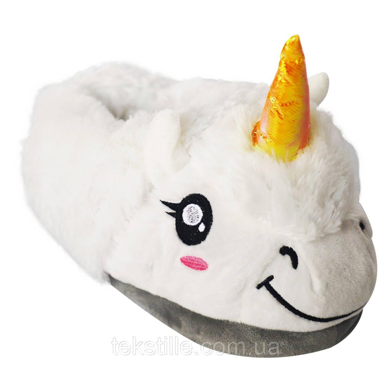 Тапочки Кигуруми Единорог (Белые)