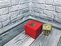 *10 шт* / Коробка для 1-ого кекса / 100х100х90 мм / печать-Красн / окно-Елка / НГ, фото 1