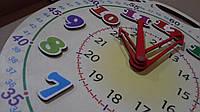 Годинник демонстраційний, діаметр 60 см, цифри на магніті, часы демонстрационные на магнитах диаметр 60 см