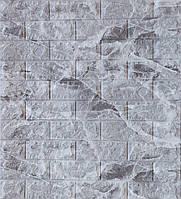 Стеновые 3D панели sticker wall мраморный кирпич самоклеящая основа Серый (sw marble)