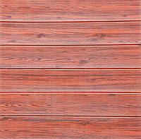 Стеновые 3D панели sticker wall самоклеящая основа дерево Красное (sw red)