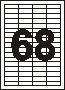 Этикетки самоклеящиеся Sapro Labels 68 шт (48,5 х 16,9 мм) 100 листов
