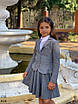Пиджак школьный подросток для девочки мадонна/тиар 140,146,152,158, фото 5