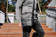 Мужские сумки через плечо | Мужская барсетка с натуральной кожи