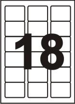 Етикетки самоклеючі Sapro Labels 18 шт (63,5 x 46,6 мм) 100 аркушів