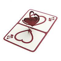 Обьемная открытка Сердца