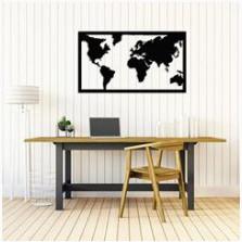 Деревянный декор на стену WHICH.BLACK - World map (75x45 см)