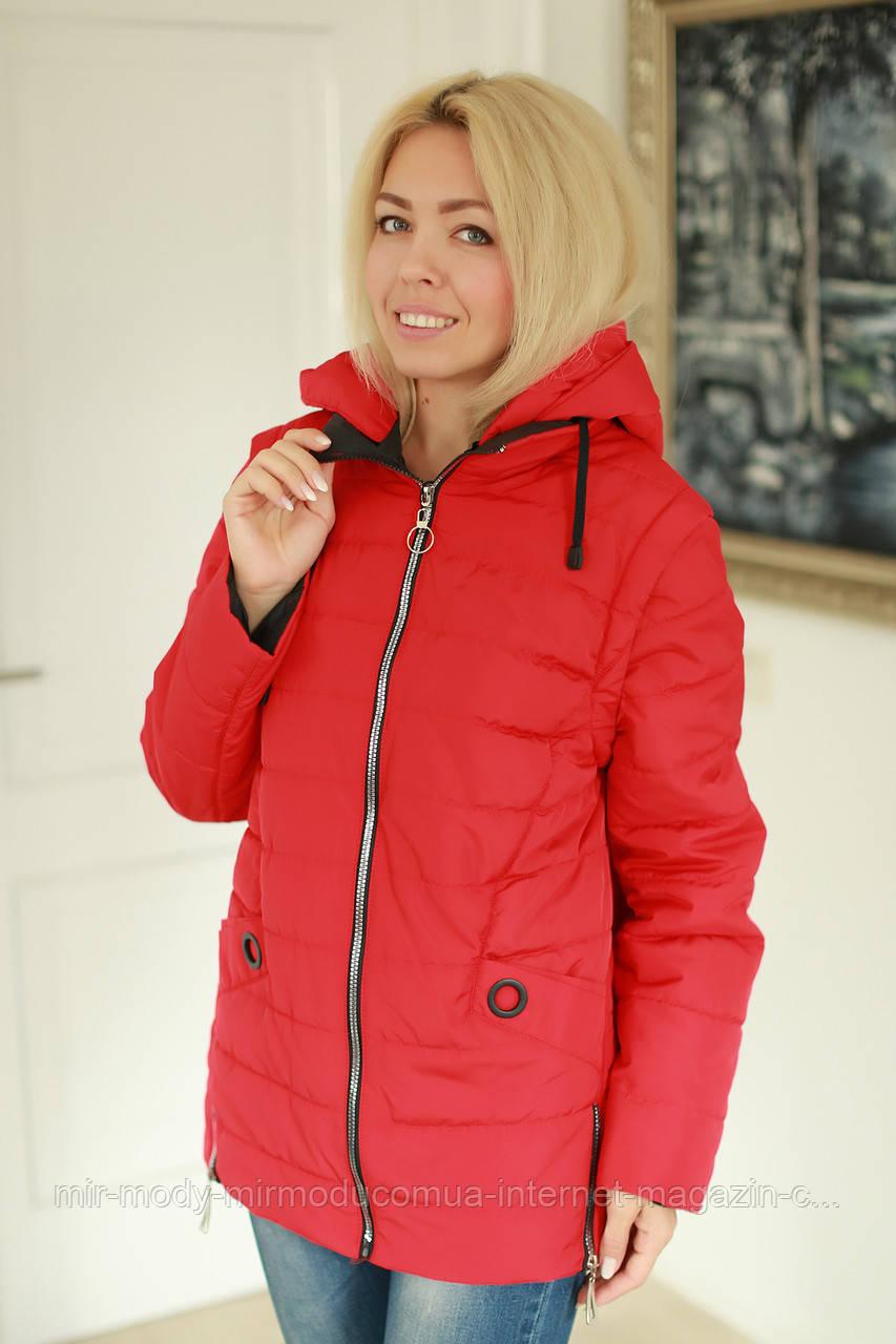 Куртка женская демисезонная трансформер в жилет с 52 по 58 размер(ms)