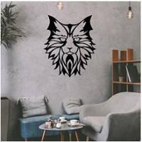 Деревянный декор на стену WHICH.BLACK - Cat 2 (75x57 см)