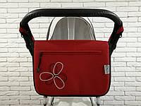 Сумка для коляски Ok Style Цветок Красная Лен