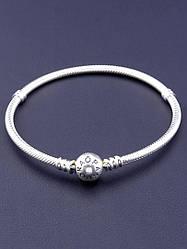 077409 Браслет 'Pandora style'  Серебро(925) 20 см.
