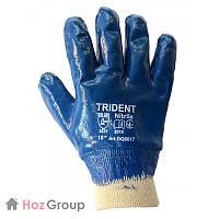 Перчатки маслостойкие трикотажные (полностью в нитриле) Trident