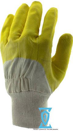 Перчатки рабочие стекольщика желтое (Intertool SP-0002), фото 2