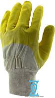 Перчатки рабочие стекольщика желтое (Intertool SP-0002)