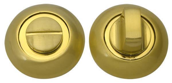 Накладка дверная RDA WC-59 полированная латунь/ матовая латунь (Китай)