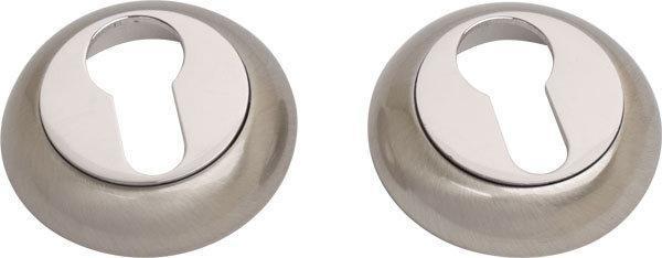 Накладка дверная под ключ COMIT CMRY-59 R никель /матовый никель (Китай)