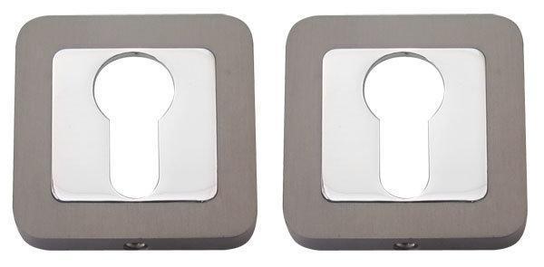 Накладка дверная под ключ RDA RY-40 хром/титан  (Китай)