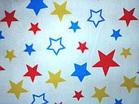 Пеленки фланель Звезды Польша ПРЕМИУМ 110*90 см большие байка