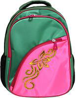 Рюкзак, 42*29*15см, зеленый с розовым, М, California, 980509