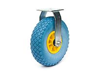 Колесо пінополіуретанове з неповоротним кронштейном, діаметр 260 мм, навантаження-125 кг