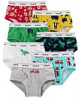Трусики Carters для мальчика комплект из 7 штук  размеры 2 3 6 7 8 разноцветные трусы хлопок оригинал США
