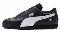 Мужские кроссовки Puma Roma BMW Black (пума рома бмв,черные)