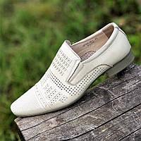 Туфли кожаные мужские летние бежевые (код 1215) -  туфлі чоловічі шкіряні літіні бежеві