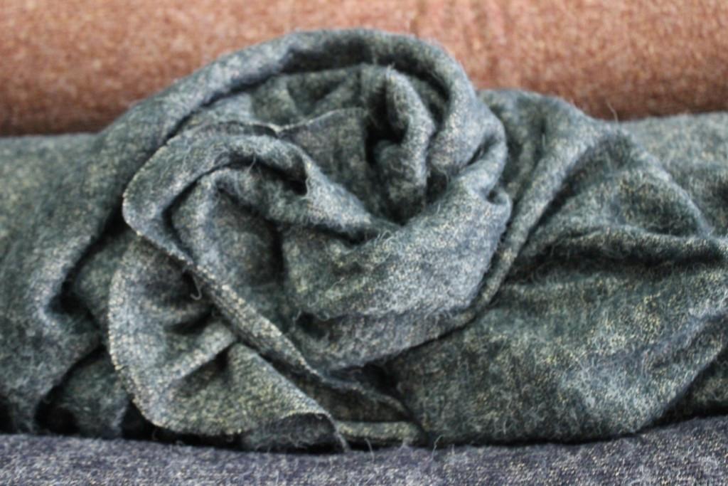 Ангора мягкая крупная вязка,  не формодержащая , цвет зеленый пог. м. № 224, фото 1