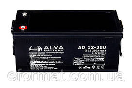 Аккумуляторная батарея ALVA battery AD12-200 AGM