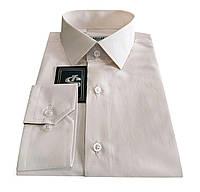 Сорочка чоловіча приталена №10-12 -8115 пудра