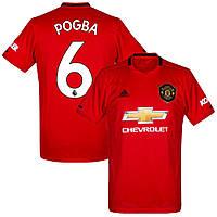 Футбольная форма Манчестер Юнайтед Погба (Manchester United Pogba) 2019-2020 Домашняя Детская (черные шорты)
