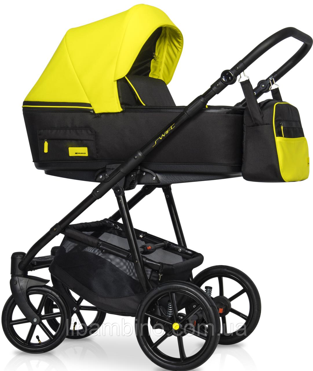 Дитяча універсальна коляска 2 в 1 Riko Swift Neon 23 Crazy Yellow