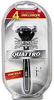 Станок для бритья Wilkinson Sword Quattro Titanium 4 картриджа W0116