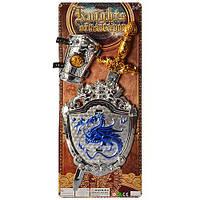 Игровой Набор Рыцаря на листе меч щит нарукавники,  3000, 009466
