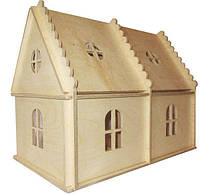 Дерев'яний будиночок HEGA Барбі для розфарбовування ляльковий ігровий, фото 1