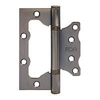 Петля для межкомнатных деревянных дверей RDA Eurocento 100*2,5 никель (Китай)